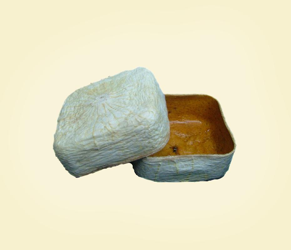 Cofanetto  quadrato  in buccia di bergamotto