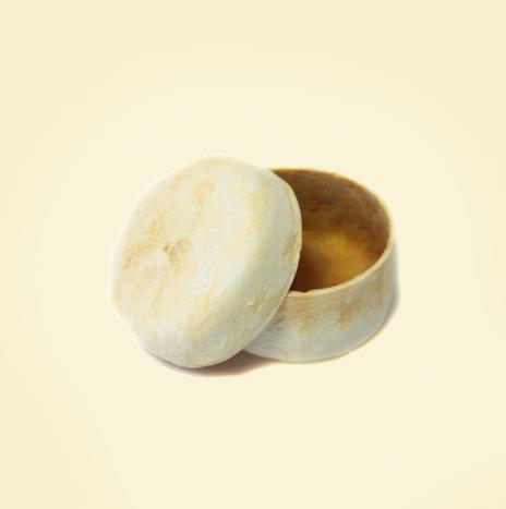 Cofanetto rotondo in buccia di bergamotto