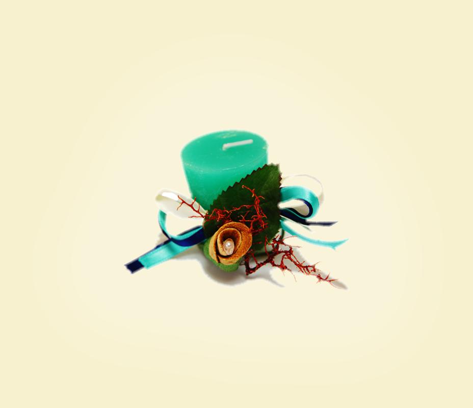 Bocciolo in buccia di bergamotto con candela