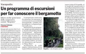 articoli giornali bergArte gazzetta del sud del 13/04/2016