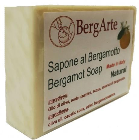 Sapone naturale artigianale con olio di oliva  e bergamotto